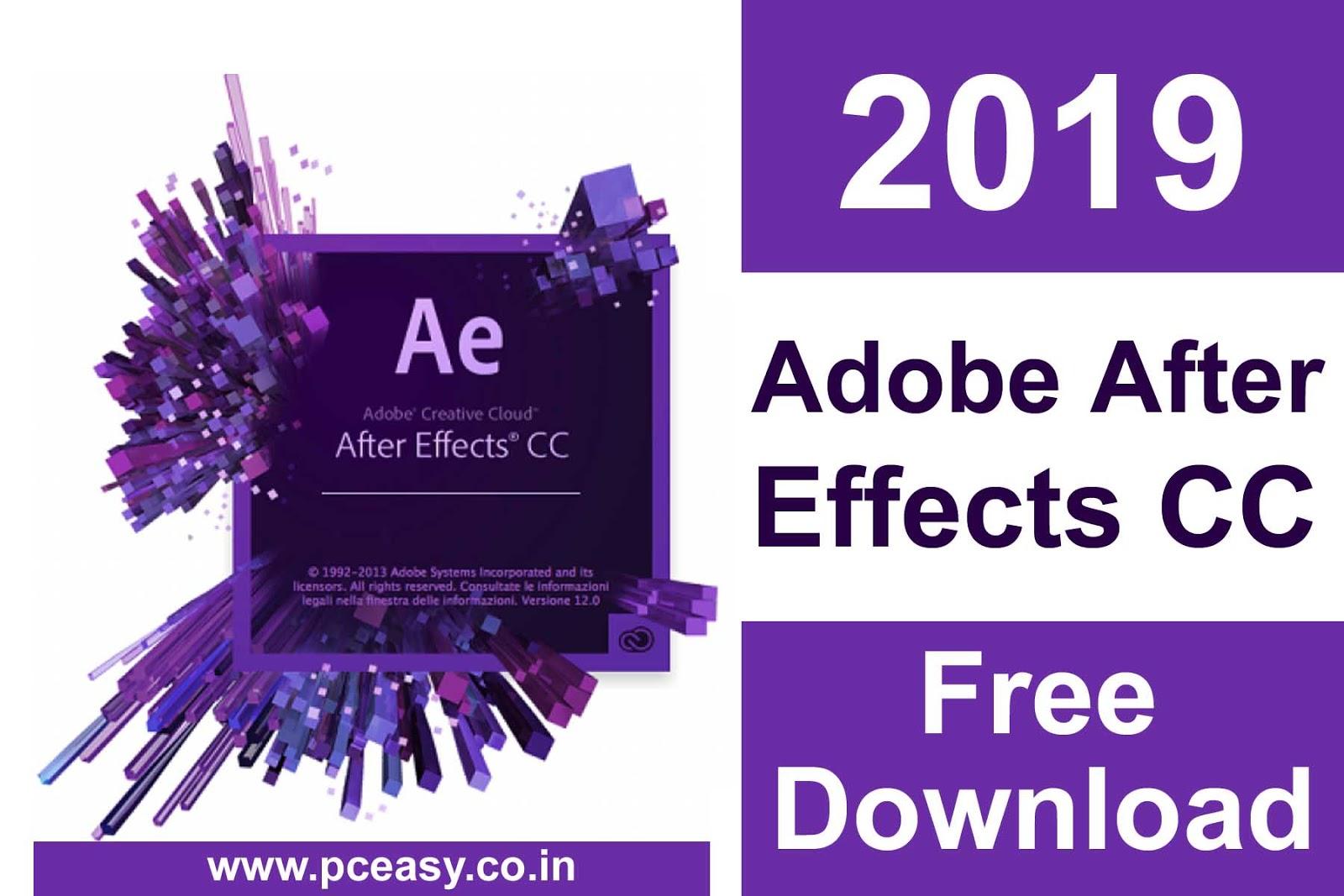 descargar crack adobe after effects cc 2019