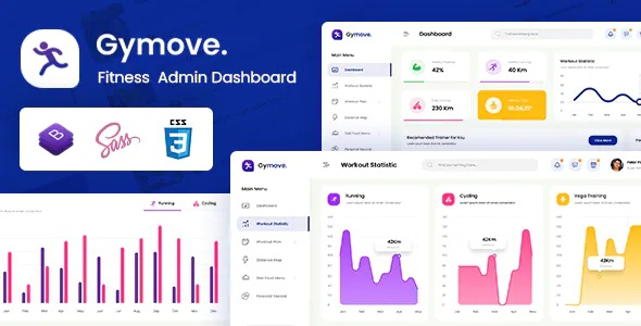 Best Fitness Admin Dashboard Bootstrap HTML Template