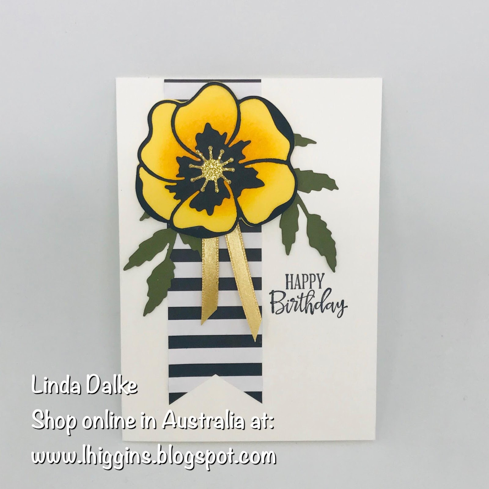 Linda Dalke Video Tutorial Sponged Poppy Birthday Card