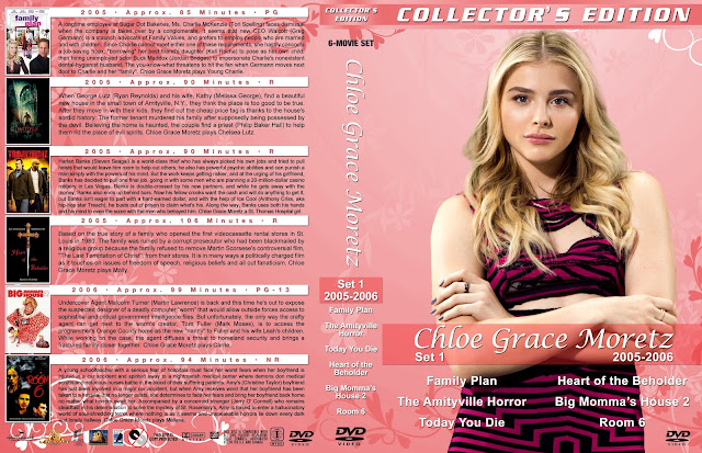 Chloe Grace Moretz Collection Set 1 Large Spine DVD Cover