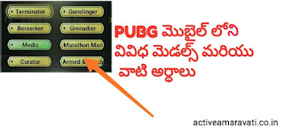 PUBG Mobile Medals List And Their Meanings in Telugu