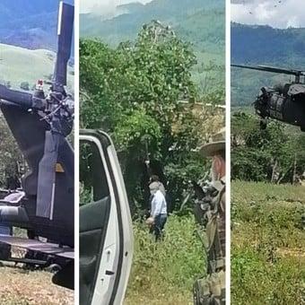 A tiros fue atacado el helicóptero donde viajaba presidente de Colombia y ministros de defensa.