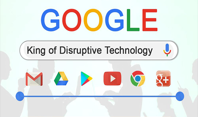 Google - King Of Disruptive Technology #infographic