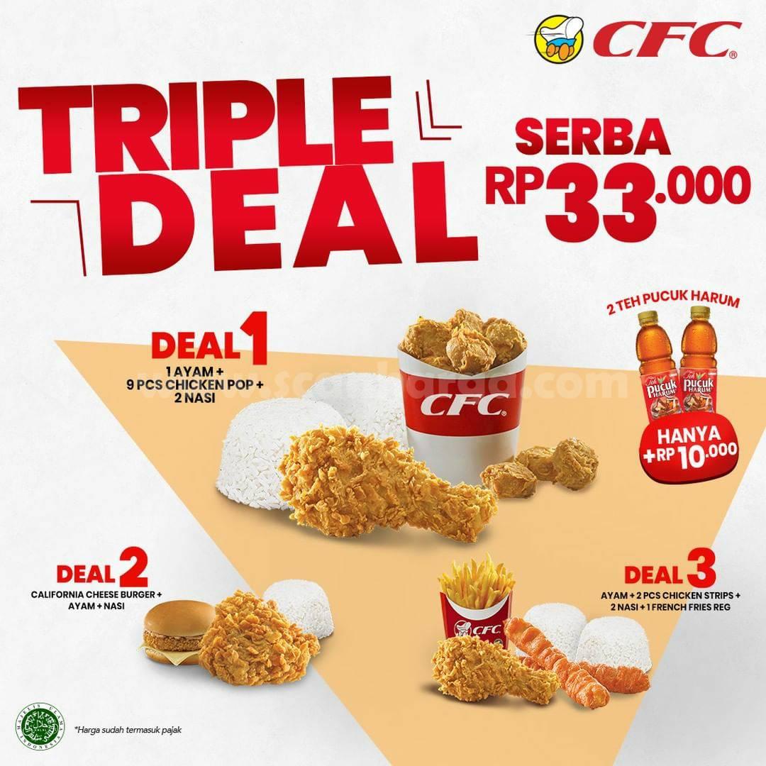 CFC Promo TRIPLE DEAL! Harga SERBA Rp 33.000 Ribu