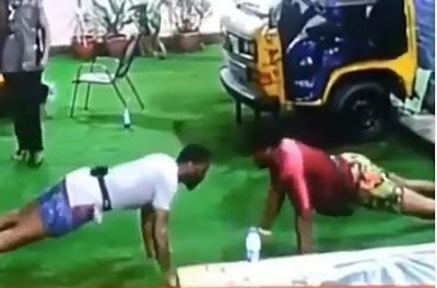 #BBNaija: Mike And Ike Undergoes A Push Up Competition