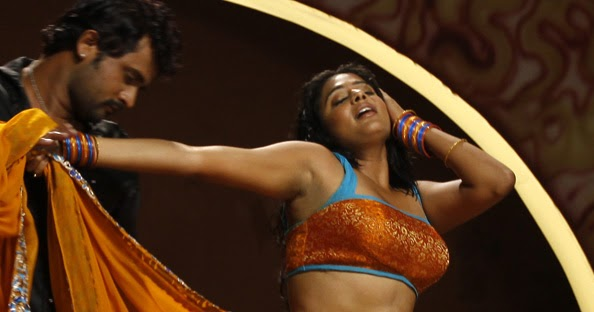 Priyamani Sexy Navel Hip Show In Saree Photos