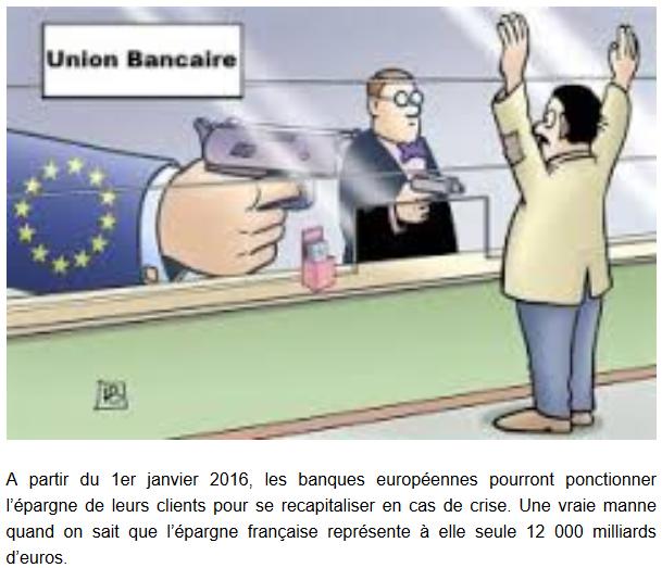 Les banques françaises ont le droit de vous piquer votre épargne !