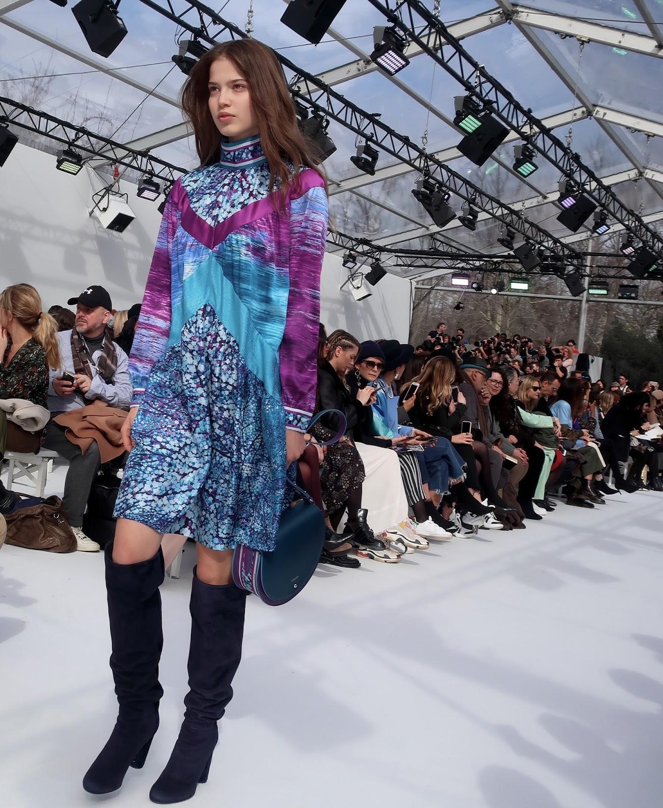 DANIEL TRIBOUILLARD Owner and CEO , ANNE De CHAMPIGNEUL ..CHRISTINE PHUNG  Artistic Director of LEONARD ...Paris Fashion Week 2018 .