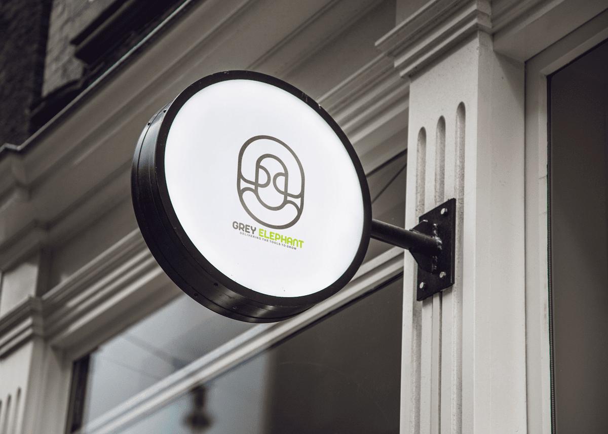 Download 3D Logo Mockup PSD - Hanging Wall Sign MockUp 3