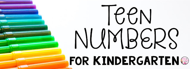 Free Teen Number Activities and Ways to Teach Teen Numbers to your Kindergarten Math Student