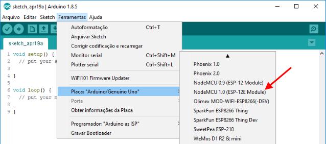 NodeMCU ESP8266 IDE Arduino