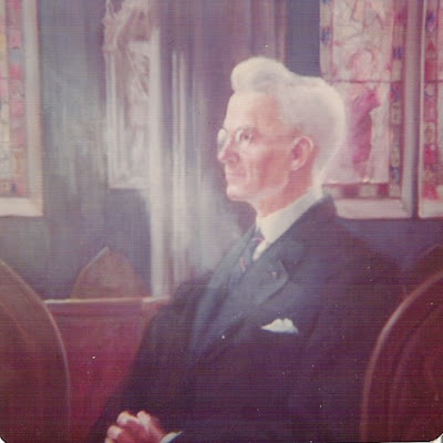 Portrait Church-going man, image of a man in church, Francis J. Quirk  St. Mary's Church interior.
