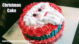 Christmas cake-How to make Santa Claus cake
