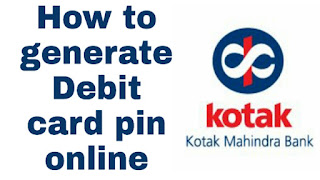 Kotak debit card pin generation