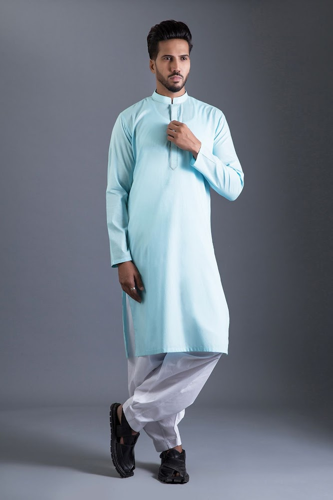 Bonanza Satrangi Blue lawn suit