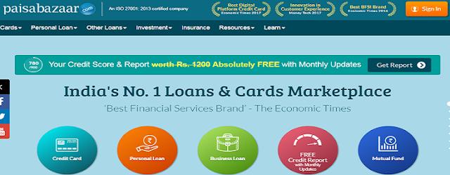 Get Free Credit Score & Report from Paisabazaar
