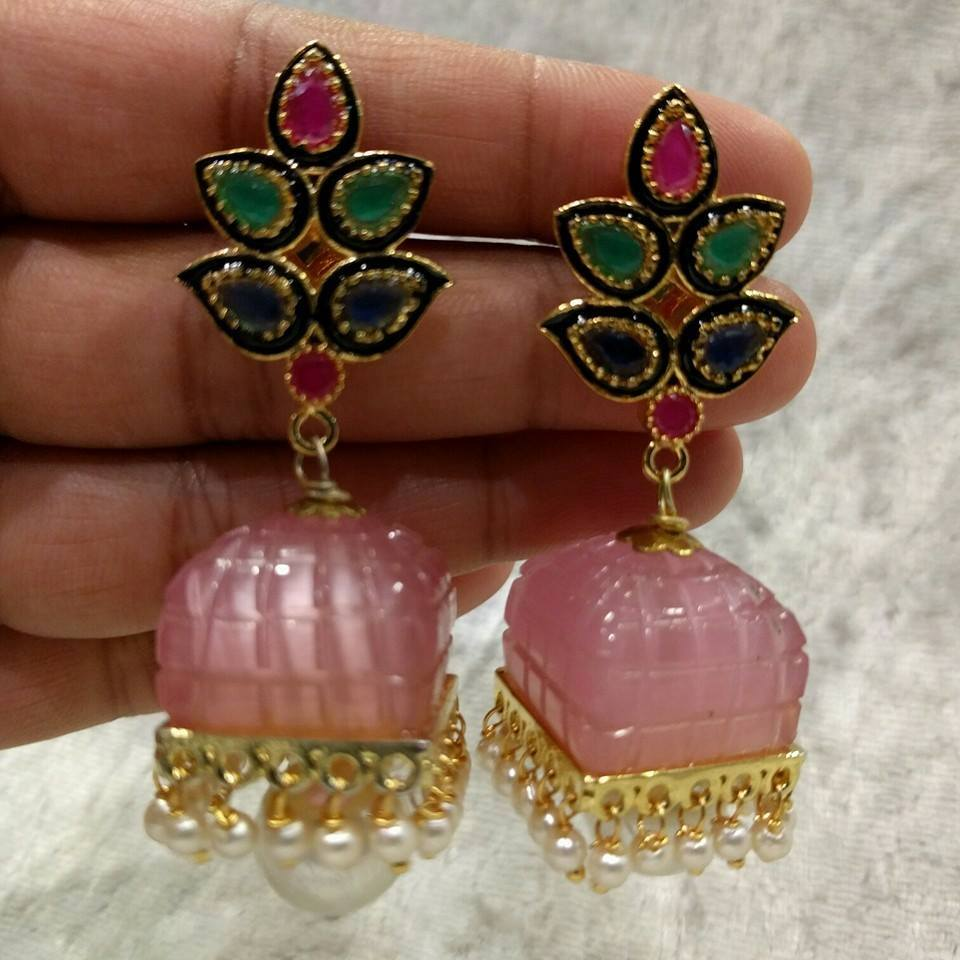 Latest 1 gram Gold Earrings Collection | Buy online ...