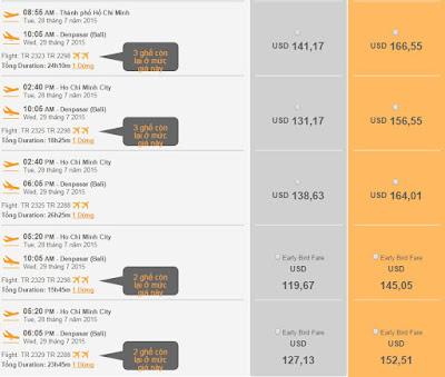 Vé máy bay đi Bali chỉ từ 119 USD