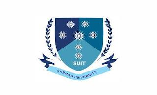 deexam.suit.edu.pk Jobs 2021 - Sarhad University Jobs 2021 in Pakistan
