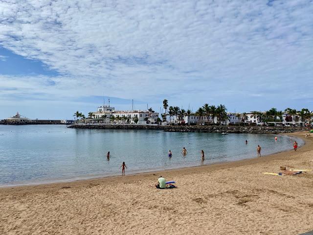 Beach at Puerto Mogan, Gran Canaria, Spain