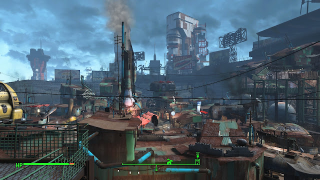 Screenshot of Diamond City in Fallout 4