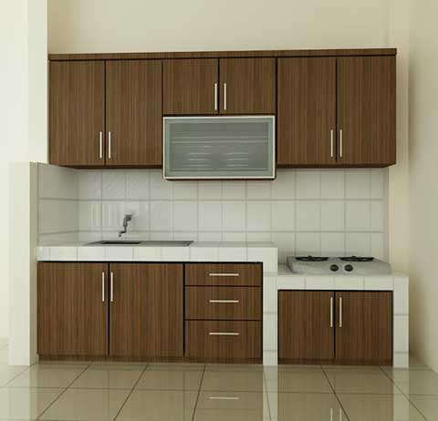 kitchen set minimalis single line