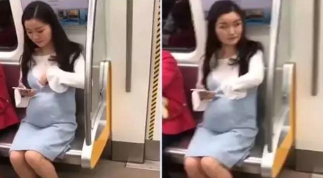 Wanita Hamil Ini Duduk di Kursi Kereta, Mendadak Tangannya Masuk ke Dada, Selanjutnya Bikin Syok Penumpang Lain!!