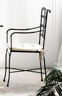 sillon de forja terraza, sillon forja comedor, sillon con brazos forja