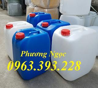Can nhựa vuông đựng hóa chất, can nhựa 20L, can nhựa 30L 417ab8f50930eb6eb221