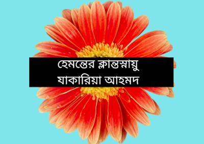 হেমন্তের ক্লান্তস্নায়ু    ---    যাকারিয়া আহমদ