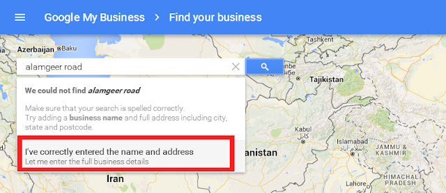 add location of your business
