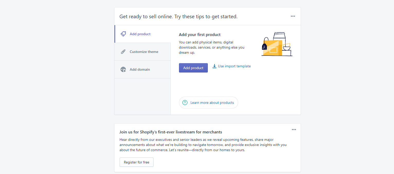 Add products on Shopify store