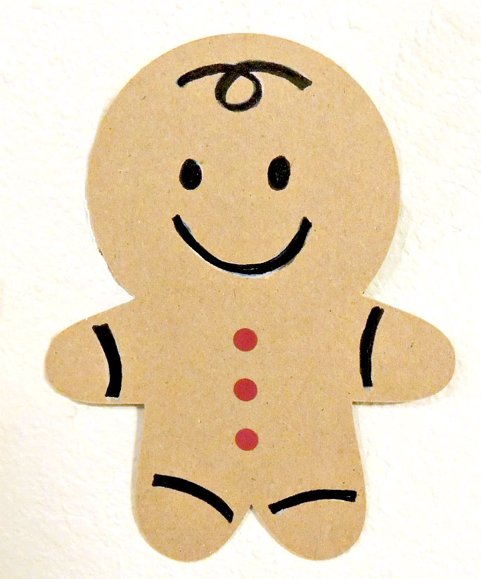 Decorate A Gingerbread Man Craft