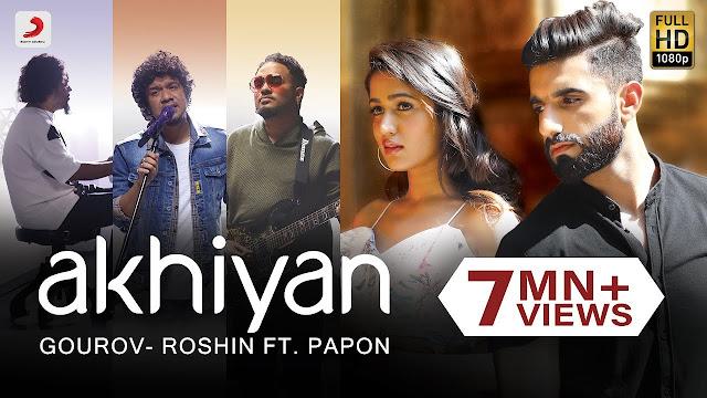 Ankhiyan Lyrics - Papon   Gima Ashi   Mr. MNV