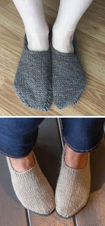 Chunky Slipper Socks - Free Knitting Pattern