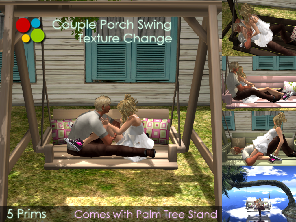 Off Brand Furniture In Second Life Couple Porch Swing