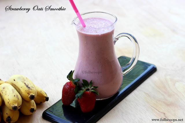 Strawberry Oats Banana Smoothie