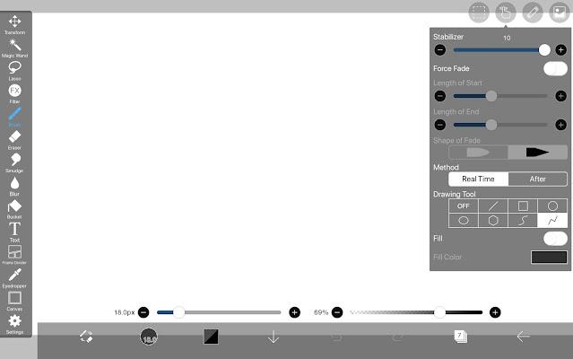 Drawing Tool:Polyline in ibisPaint X