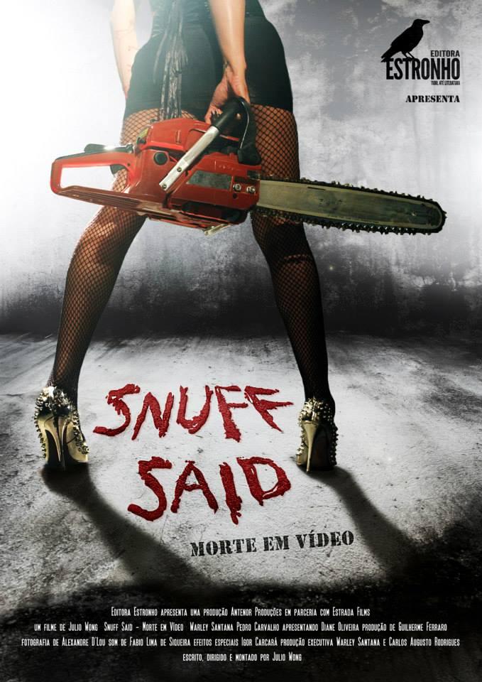 """Pôster de """"Snuff Said - Morte em vídeo"""" - Quando o Terror deixa de ser ficção!"""