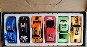 A look at the individual cars inside their inner packaging, outside of the box