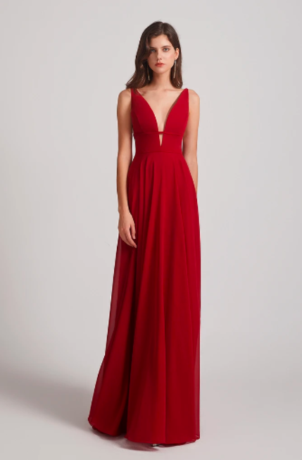 //alfabridal.com/products/elegant-deep-v-neck-ruffles-long-bridesmaid-dresses?_pos=1&_sid=3f4c377c7&_ss=r