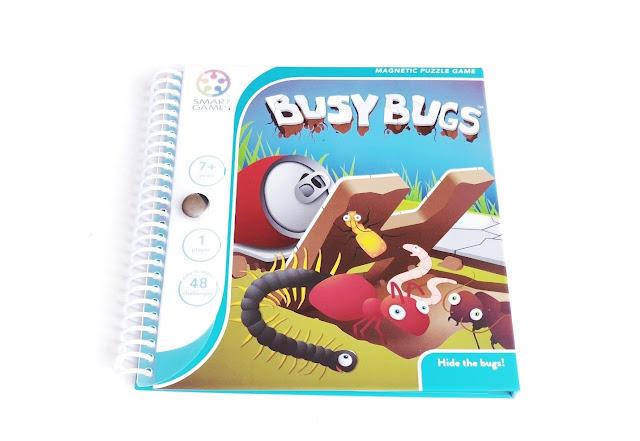 na zdjęciu opakowanie gry magnetycznej busy bugs robaczki
