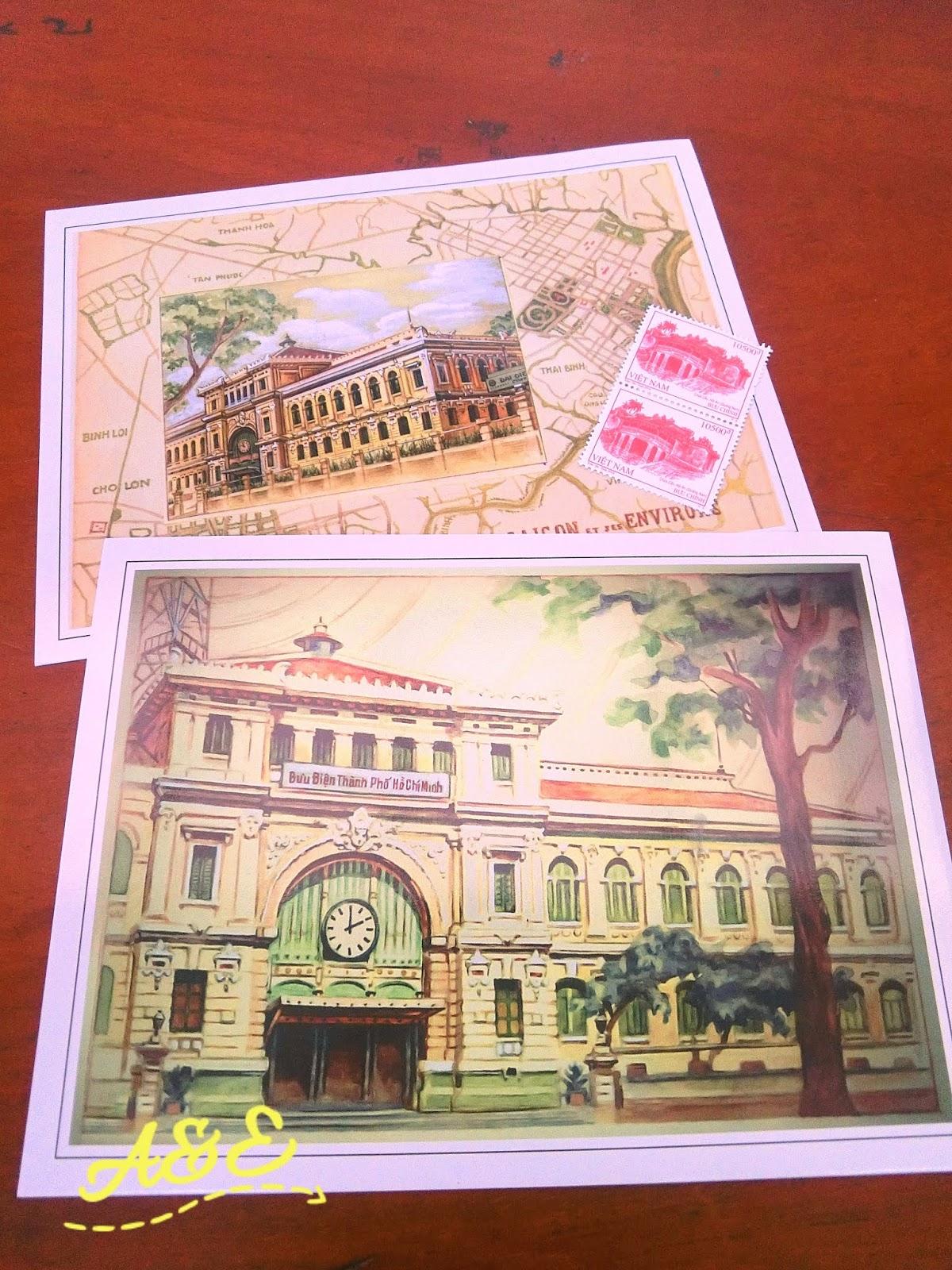 越南。胡志明市景點|百年郵局 西貢中心郵政局 Bưu điện trung tâm Sài Gòn | AE 生活大小事