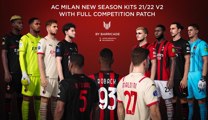 AC Milan Kits Season 2021-2022 For eFootball PES 2021