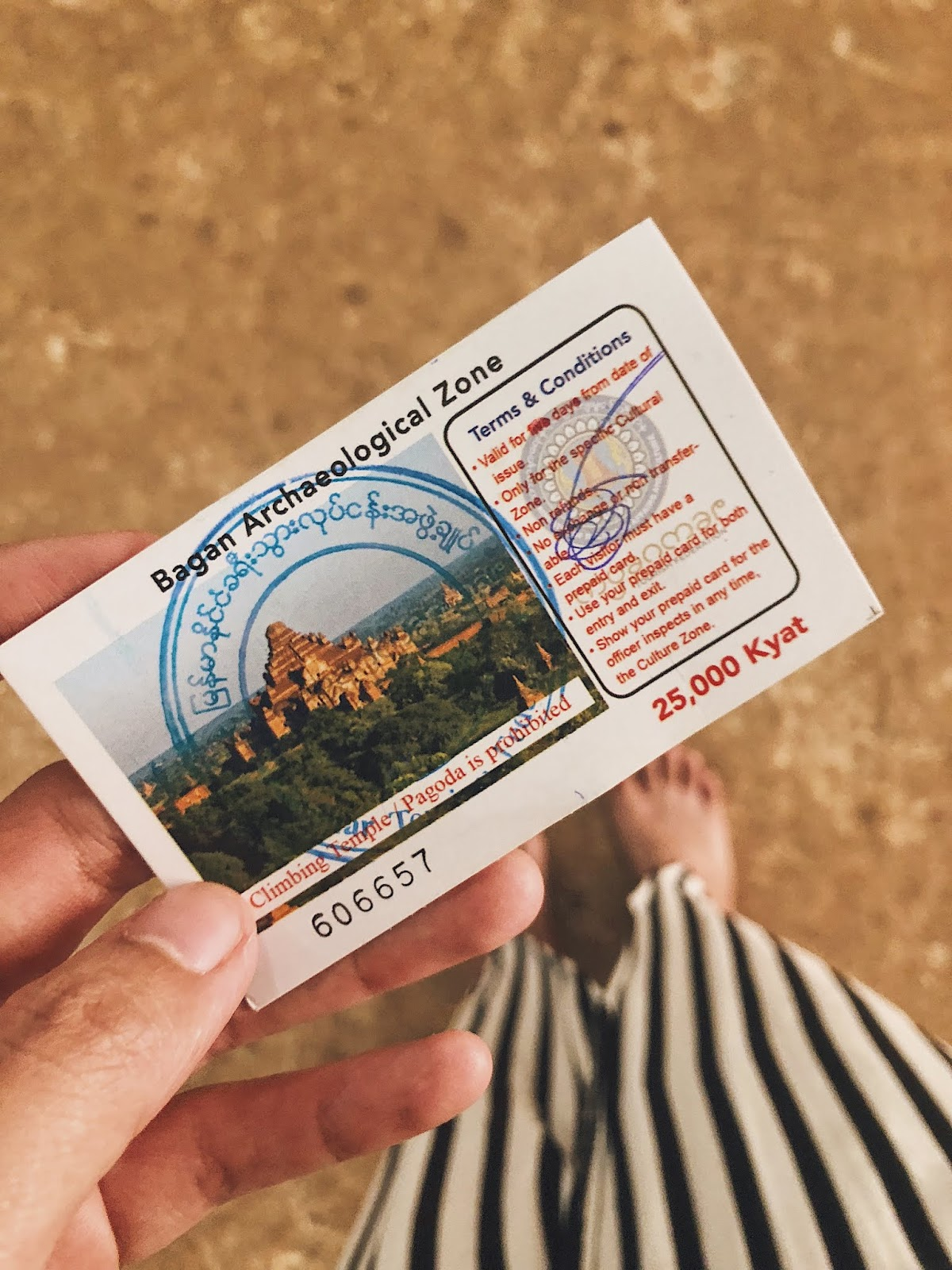 Bagan Archaeological Zone ticket
