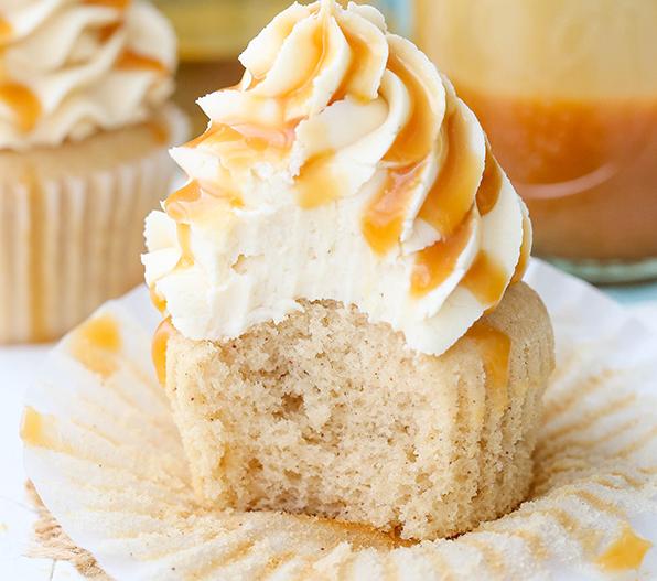 Yuumm.. Caramel Bourbon Vanilla Cupcakes