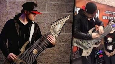 Jared Dines Lelang Gitar 18 Senar Multy scale Miliknya