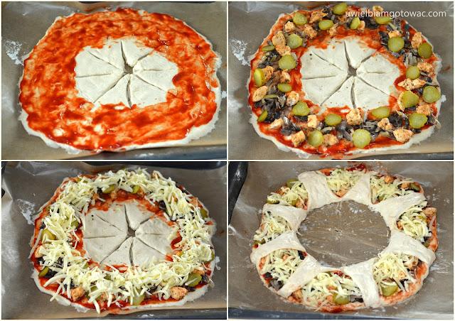 Pizza Korona (Drożdżowy Wieniec)
