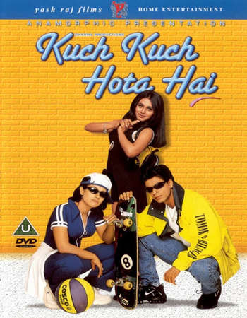 Poster Of Kuch Kuch Hota Hai 1998 Hindi 650MB BRRip 720p ESubs HEVC Watch Online Free Download downloadhub.in
