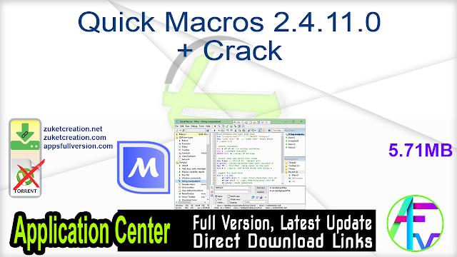Quick Macros 2.4.11.0 + Crack